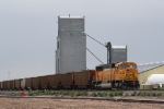 BNSF 9870 is a DPU on this Coal Train on the Dickinson Sub