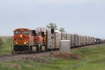 BNSF 5998 Heads a Freight Manifest Westbound on the Dickinson Sub