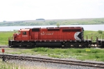 Local SD40-2 Assigned to Work Along the Portal Sub Between Minot and Flaxton Takes a Break
