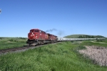 CP 9837 Heads East with a Potash Train