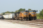 UP wings leading NS NB freight trains