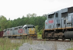 KCS local meets Wb freight