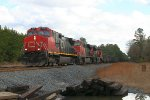 NB empty rock train heading for Hatton Martin Marietta quarry