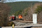 SB coal train meeting NB local