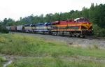 KCS SB grain train at the top of the grade
