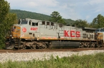 KCS 4607 pusher on SB grain train
