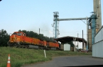 BNSF coal train going through Pilgrim