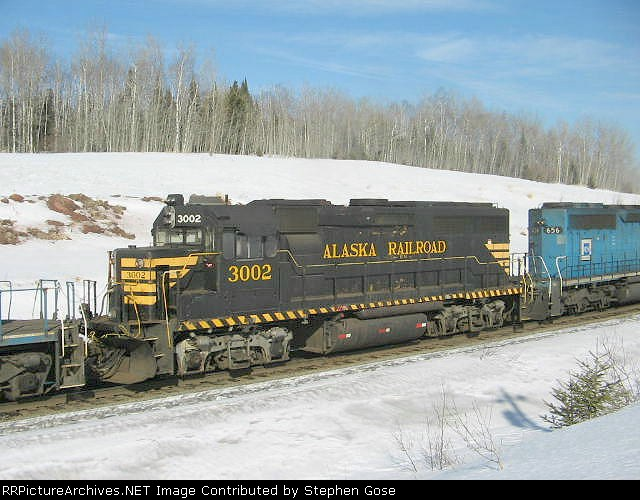 Alaska RR GP40-2 #3002, currently on lease to Northshore Mining