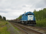 653 and 651 DPU'ing the afternoon tailings mty at mile 2 on track 2 - 3:35pm