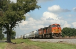 BNSF SB freight out of UP Livonia
