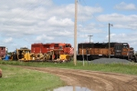 A Bandit and a GP38AC Idle in the Small Yard