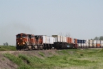 BNSF 1037 Heads up a Westbound Z Train