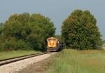 BNSF loaded coal train on KRR