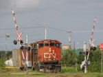 CN 515 Approaching the A-Yard