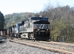 NS 23G with auto racks and stacks passes enroute to Roanoke