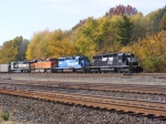 NS 3402 leads a colorful consist