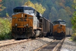 Meet at Poplar siding E134 and a coal train