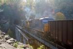 CSX 28 hopper train crossing Pool Point bridge