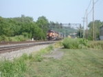 WC 6584 passing the signal bridge on #2 Track