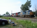 CSX 4778 & CN 5319 making there way EB with a HOT (96 degrees) Intermodal on #1 Track