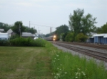 CSX 7381 & CSX 8644 cross NYS Route 250 at grade heading EB on the #1 Track