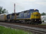 CSX 7381 & CSX 8644 pulling a EB Autorack on the #1 Track