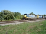 CSX 7581 & CSX 8045 WB on the #1 Track