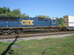 CSX 8730 (Whisper Cab) pulling on the rear of this 3-loco consist
