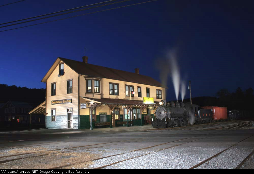 Night Falls at the Orbisonia Station