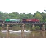 CP 9805 crosses the Flint River