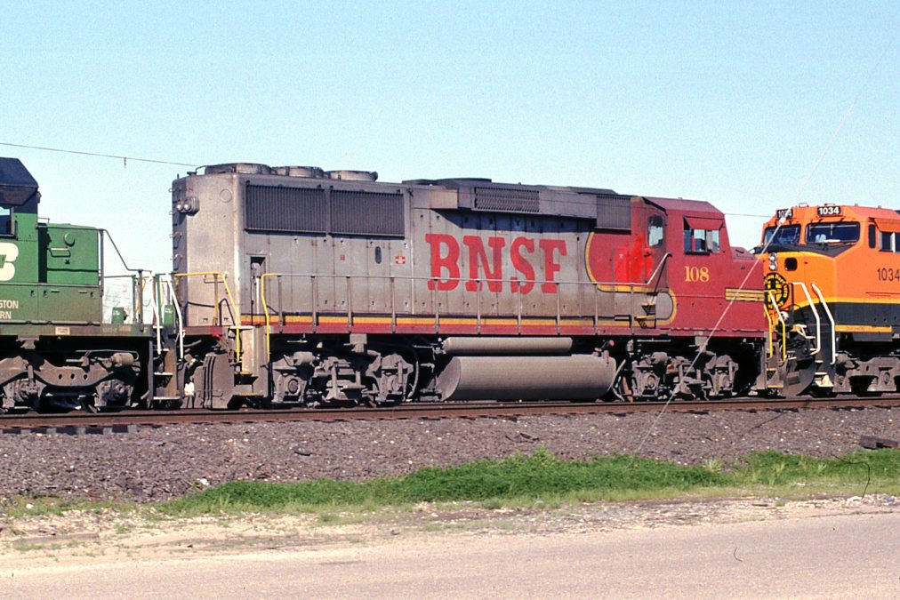 BNSF 108 on WB freight (4 of 6)
