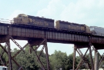 Rare GP40X leading transfer across Huey Long Bridge