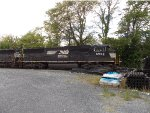 NS 6902 lashed up behind NS 6908 on the siding in Harrisonburg Yard