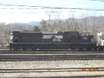 Norfolk Southern SD-70 awaiting its assignment in the yard.