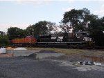Norfolk Southern 1107 & BNSF 4858 tied together