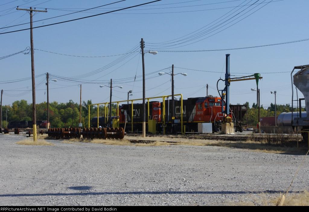 CN Locos at Fulton KY