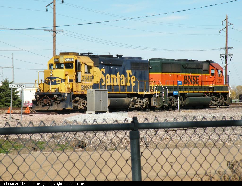 BNSF 2846 at Havelock