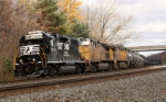 NS 5618 lead UP power westbound in Lilly PA