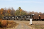 NS 6328, 6300, 6305 and 6314 assist on the end of eastbound loaded coal