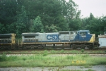 CSX C40-8W 7662