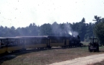 Edaville RR #8 at the head of an excursion train