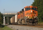 BNSF 6020 leads NS 732 south