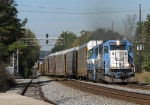 NS 285 with a pair of GMTX's crossing over at Austell