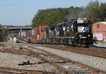 NS 5837 leads G5A out of Whittaker yard