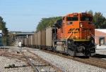 BNSF 9349 shoving a Scherer train north