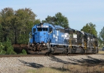NS 914 highballing west with a eclectic set of power