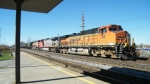 BNSF C44-9W's take a CSX ethanol train through Depew