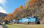 Leaves, coal, and Conrail blue