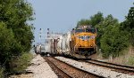 UP #4262 shoving a cut into CSX Gentilly Yard