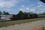 CSX 8625 and 5257 lead southbound ballast train